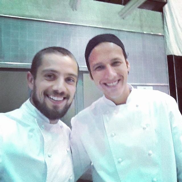 Rafael e Ítalo nos bastidores de gravação (Foto: Instagram)