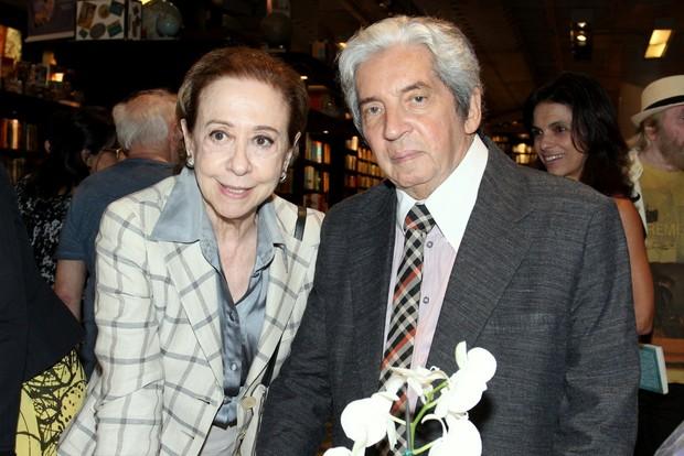 Fernanda Montenegro e Domingos Oliveira (Foto: Alex Palarea/AgNews)