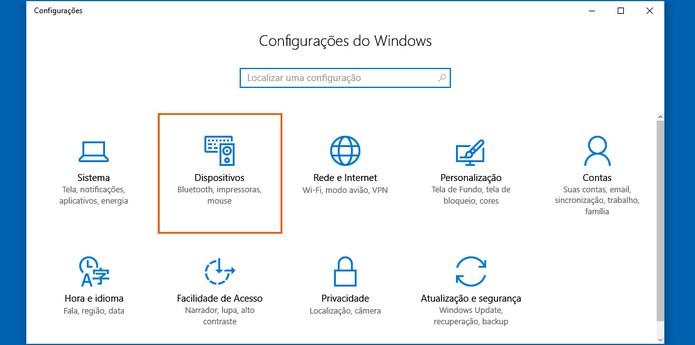 Abra o menu de Dispositivos nas Configurações (Foto: Reprodução/Barbara Mannara)