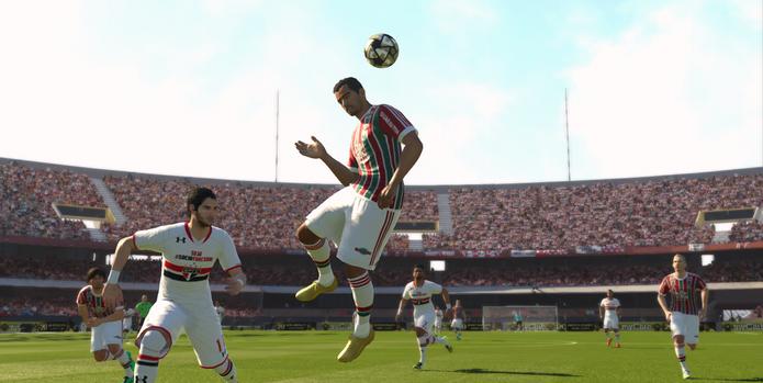 PES 2016 focou em clubes brasileiros e em novos modos de jogo (Foto: Reprodução/Techtudo)