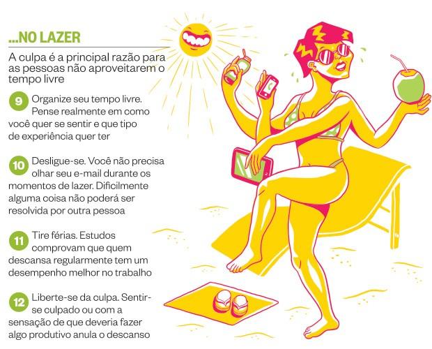 ...no lazer (Foto: Ilustração: Guilherme Aranega)