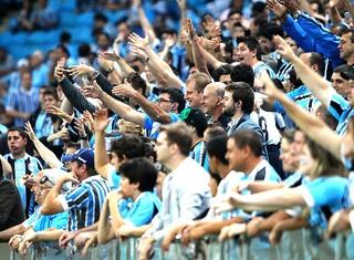 torcida Grêmio jogo Fluminense  (Foto: Lucas Uebel / Site Oficial do Grêmio)