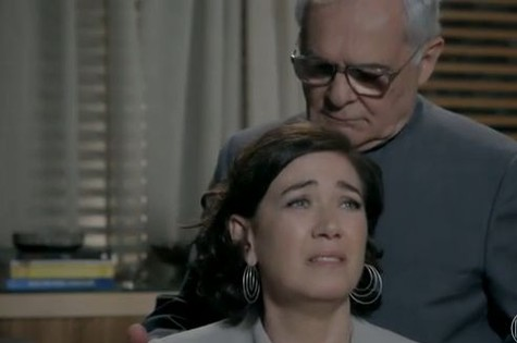 Lilia Cabral e Othon Bastos em cena de 'Império' (Foto: Reprodução)
