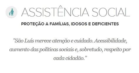 Proposta de Edivaldo Holanda para a Assistência Social (Foto: G1 Maranhão)