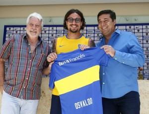 Daniel Osvaldo, apresentação Boca Juniors (Foto: Departamento de Prensa de Boca Juniors)