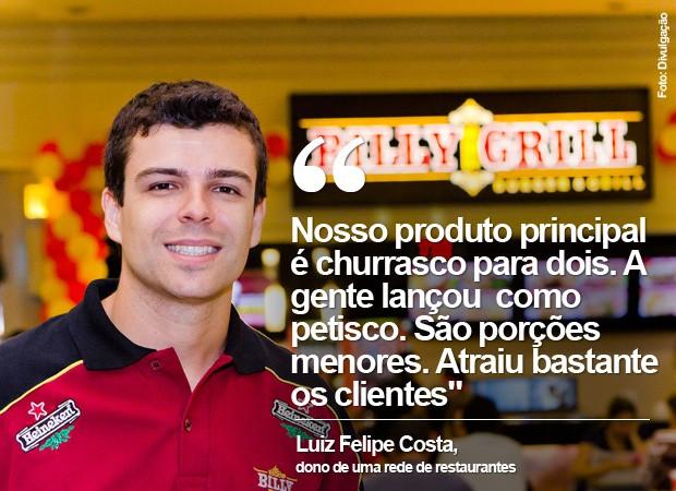 Luiz Felipe Costa é dono da Billy the Grill (Foto: Divulgação)