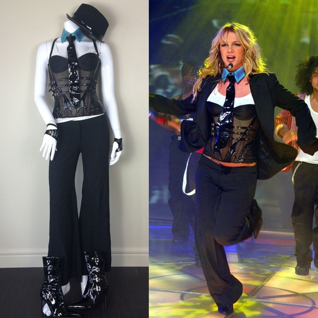 """O figurino fetichista de """"Me Against The Music"""", que tem a participação de Madonna (Foto: Reprodução)"""