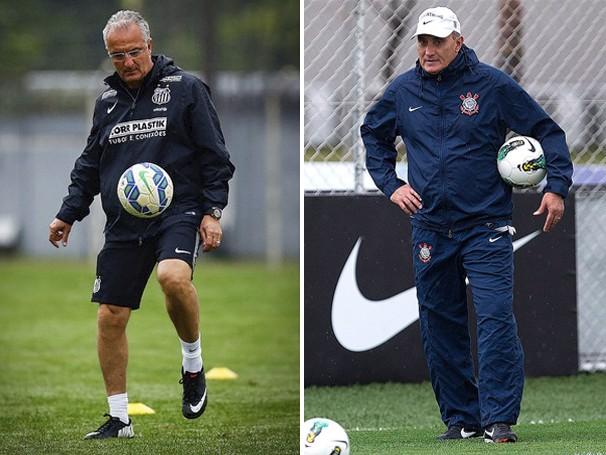 Os técnicos Dorival Jr e Tite comandam as equipes (Foto: reprodução Globoesporte.com)