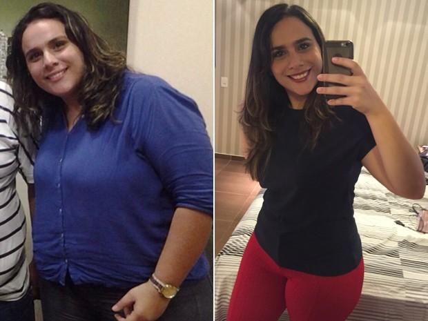 Jéssica Teixeira Monteiro passou de 130 kg a 82 kg em 1 ano e 7 meses (Foto: Jéssica Monteiro/Arquivo pessoal)