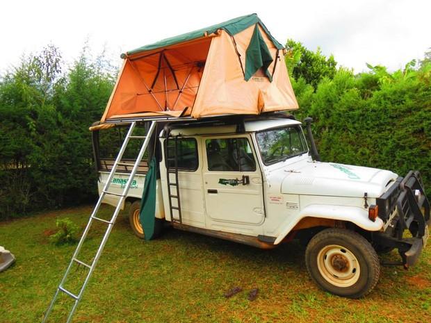 Camping é opção de férias para turistas na Serra da Canastra (Foto: Daniela Labonia/Divulgação)