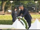 Obama deposita coroa de flores no 'marco zero' de Hiroshima