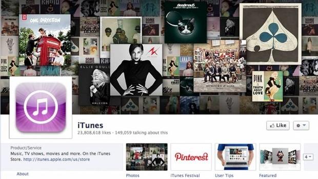 Facebook: iTunes (Foto: reprodução / internet)