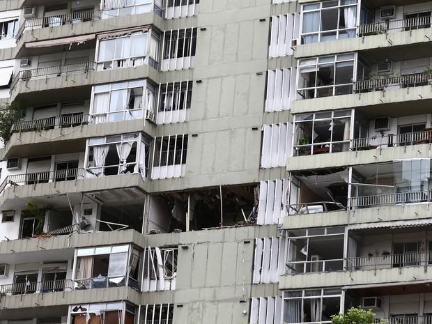 Explosão destruiu apartamentos em prédio de São Conrado, na Zona Sul do Rio (Foto: Wilton Junior/Estadão Conteúdo)