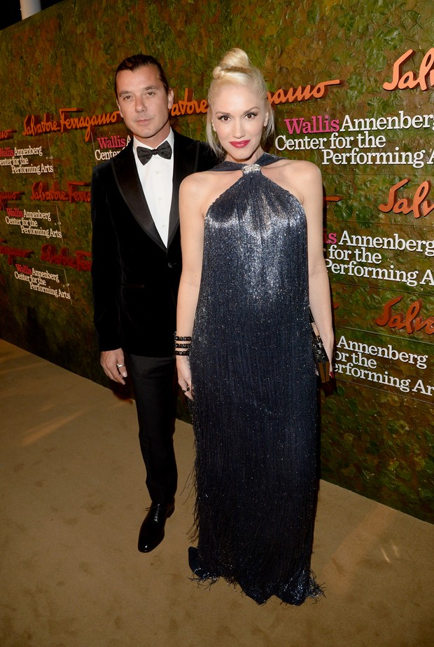Gwen Stefani e Gavin Rossdale em evento em Los Angeles, nos Estados Unidos (Foto: Jason Merritt/ Getty Images/ AFP)