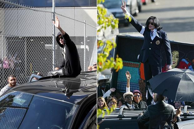 Justin Bieber e Michael Jackson (Foto: AFP | Getty Images)