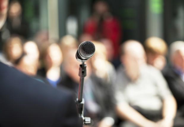 discurso, fala, voz, apresentação em público (Foto: Thinkstock)