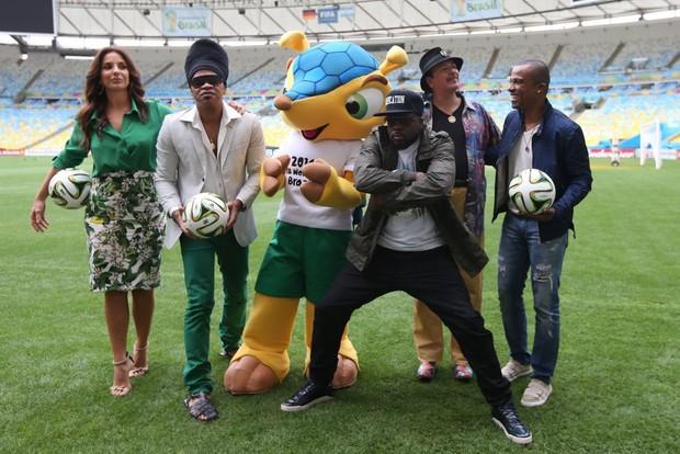 Ivete Sangalo, Carlinhos Brown, Wyclef Jam, Carlos Santana e Alexandre Pires (Foto: Vanessa Carvalho / BPP/ AgNews)