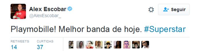Alex Escobar twitter (Foto: Reprodução)
