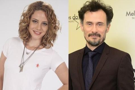 Leandra Leal e Enrique Diaz (Foto: TV Globo)