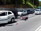Motociclista fica ferido após colisão com carro na Av. Juracy Magalhães Jr