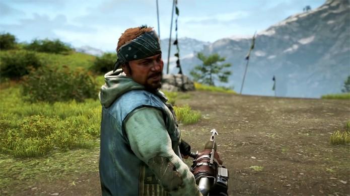 Hurk traz sua arma de arpões como bônus de pré-venda para Far Cry 4 (Foto: Reprodução: YouTube)