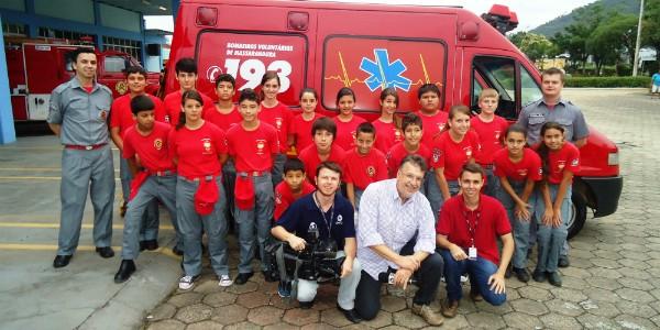 Montador de móveis é bombeiro voluntário (Foto: Divulgação/RBS TV)