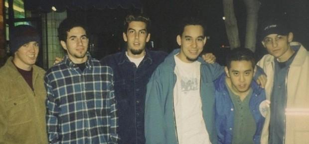 A primeira foto de Chester Bennington com o Linkin Park (Foto: reprodução/Instagram)