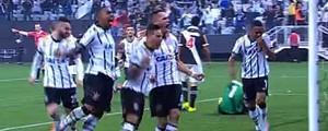 Corinthians derrota o Vasco por<br /><br /> 3 a 0 e segue na vice-liderança (Reprodução / SporTV)