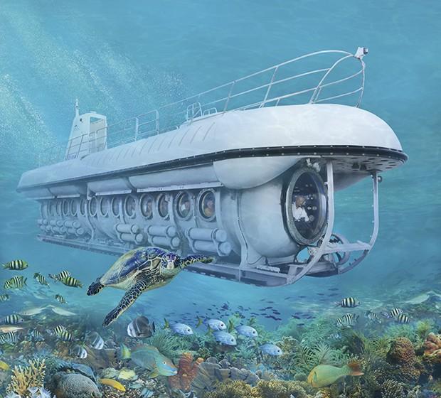 O divertido passeio de submarino. (Foto: Divulgação)