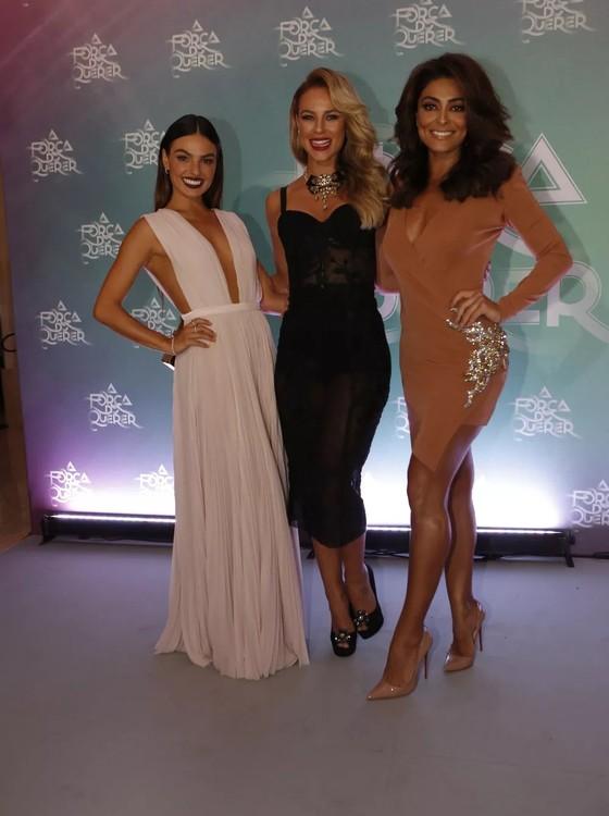 Musas: Isis Valverde, Paola Oliveira e Juliana Paes no lançamento da novela (Foto: AG. News)