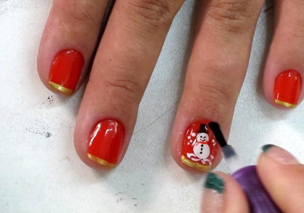Armario Sin Puertas Niños ~ G1 Manicure de Cubat u00e3o ganha clientes com adesivos de unha natalinos notícias em Santos e Regi u00e3o