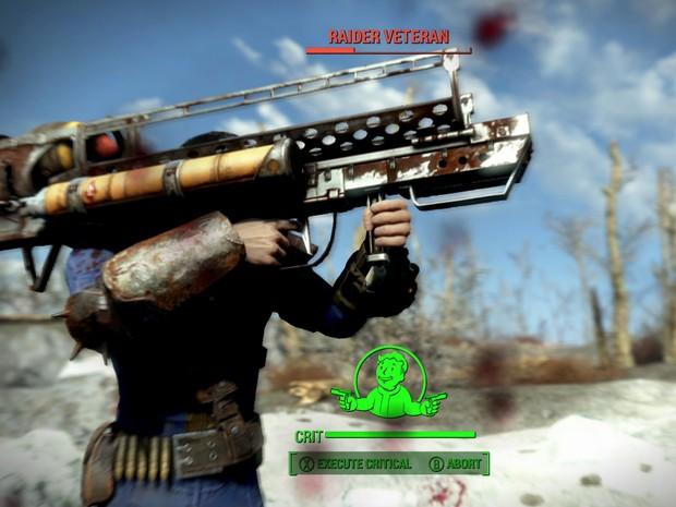 Fãs vão reconhecer vários elementos da série 'Fallout' em 'Fallout 4', como a arma Fatman  (Foto: Divulgação/Bethesda)