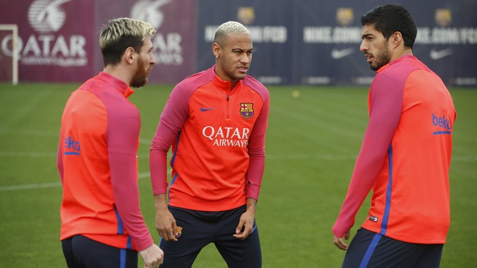 Messi, Neymar e Suárez, Barcelona (Foto: Twitter / @fcbarcelona)