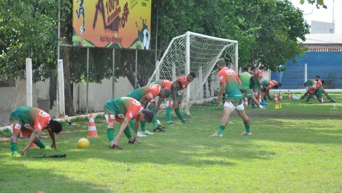Operário VG foca na parte física durante os treinos de pré-temporada (Foto: Christian Guimarães)
