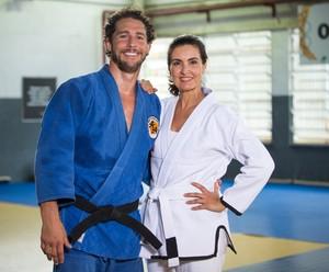 Fátima e Flávio Cantos: juntos para uma série olímpica do 'Encontro' (Foto: Fabiano Battaglin/Gshow)