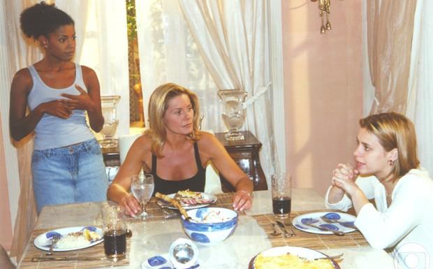 Thalma de Freitas com Vera Fischer e Carolina Dieckmann em