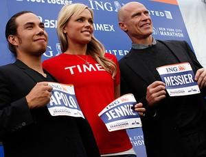 Apolo Ohno Jennie Finch Mark Messier maratona Nova York (Foto: Reuters)