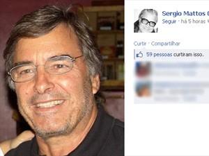 O agente de modelos Sergio Mattos homenageou o amigo que descreveu como 'padrinho' em rede social (Foto: Reprodução/Facebook)
