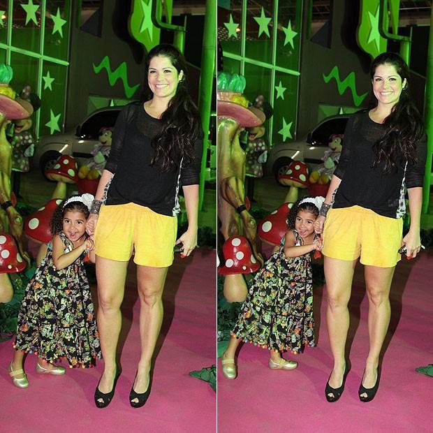 Samara Felippo e a filha, Alícia (Foto: Claudio Andrade/Revista QUEM)