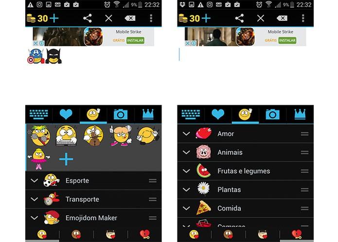 Emojidom tem interface em português e permite criar seu próprio emoticon (Foto: Reprodução/Barbara Mannara)