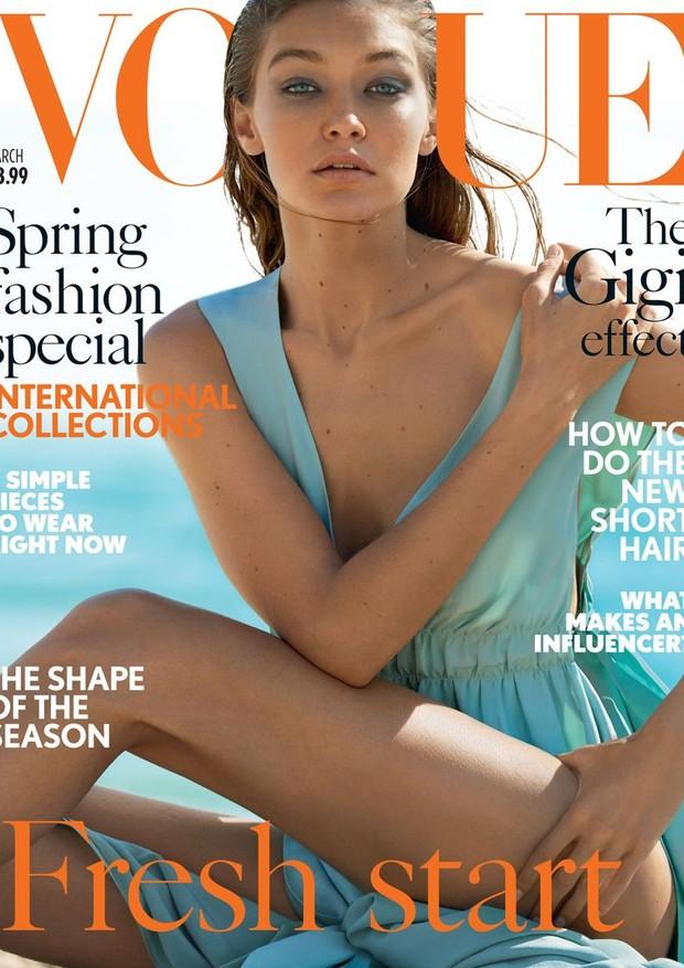 Gigi Hadid (Foto: Vogue UK/Reprodução)