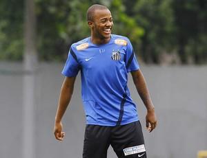 Victor Andrade, treino do Santos (Foto: Ricardo Saibun / Divulgação Santos FC)