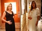 Adriana Birolli e Letícia Birkheuer ficam 'grávidas' em 'Império'