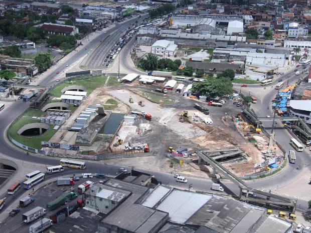 Teste com modelo de ônibus do BRT está sendo feito no Entrocamento (Foto: Divulgação/Comus)