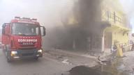 Loja de tecidos pega fogo no bairro de Cajazeiras