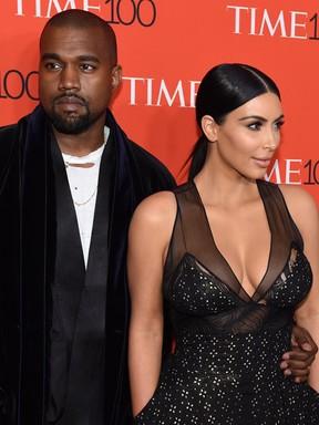 Kanye West e Kim Kardashian (Foto: Agência AFP)