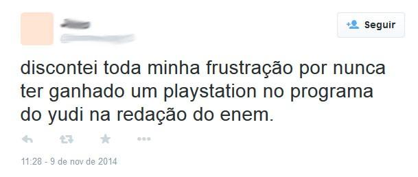 Playstation, playstation, playstation... (Foto: Reprodução/Twitter/junowerlang13)