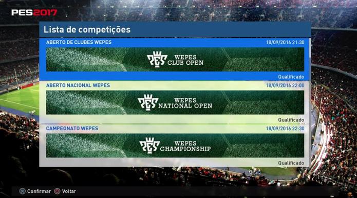 Competições online - eFootball PES 2020