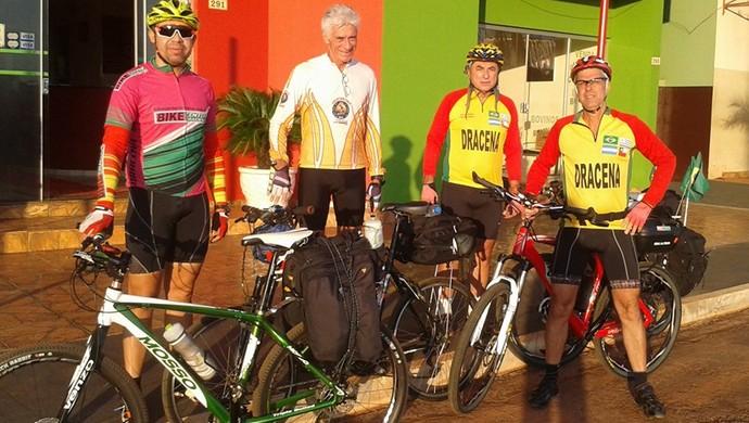 Ciclistas da região pedalam até Campo Grande  (Foto: Marcelo Sousa / Arquivo Pessoal)