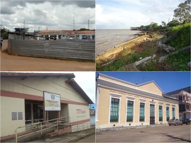 Amapá tem 120 obras paradas por causa da crise, diz governo (Foto: Nilson Gadelha/Arquivo Pessoal; John Pacheco/G1; Fabiana Figueiredo/G1; Reprodução/Rede Amazônica)